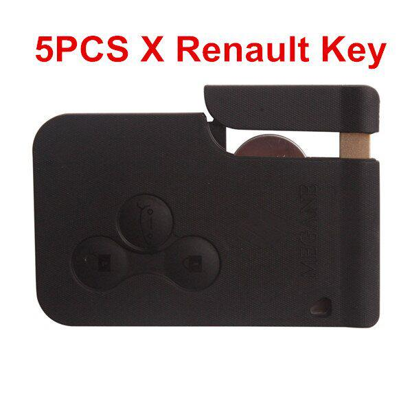 5PCS/lot Renault 3 Button Smart Key 433MHZ