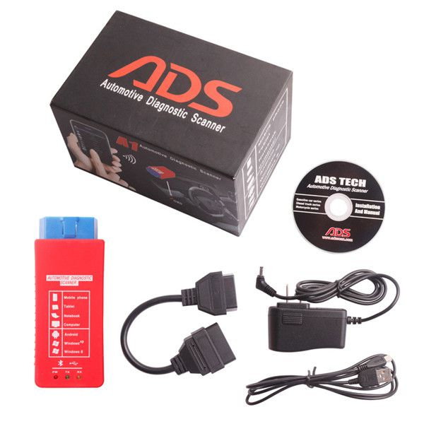 ADS A1 Bluetooth OBDII Scanner Support Android Windows XP Work On Mobile Phone Tablet PC Laptop And Home PC