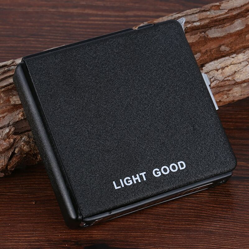 Automatic Ejection Butane Lighter Cigarette Case