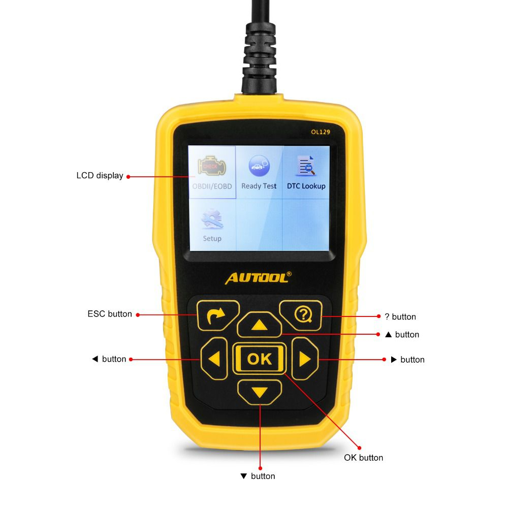 AUTOOL OL129 Battery Monitor And OBD/EOBD Code Reader OL129 Auto Engine Diagnostic Tool