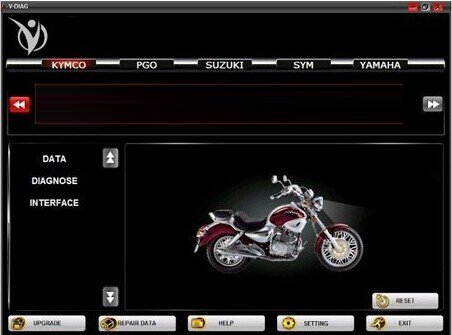 Classic 7 in 1 Multi-Brand Motorcycle Scanner Software