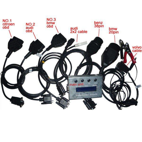 10 in 1 service light and airbag reset tool cable deatils