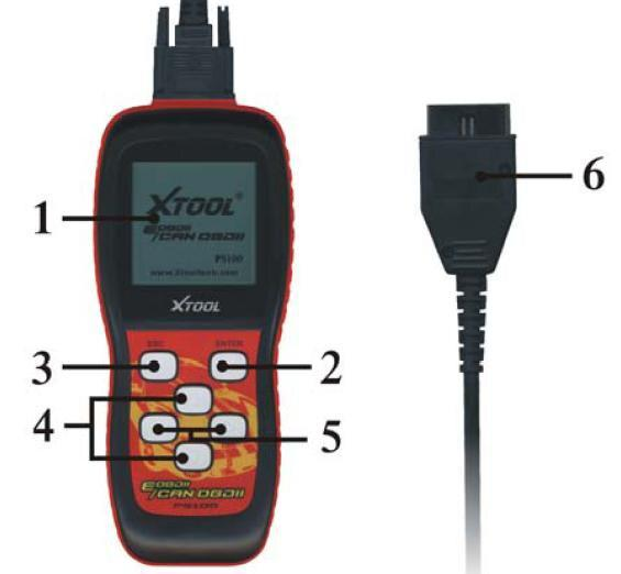 Xtool Scanner ps100 OBDII Fault Code Scanner