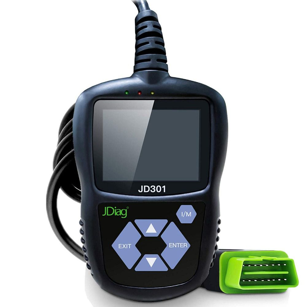JDiag JD301 OBD2 Scanner Automotive Engine Fault Code Reader CAN Diagnostic Scan Tool (Black)
