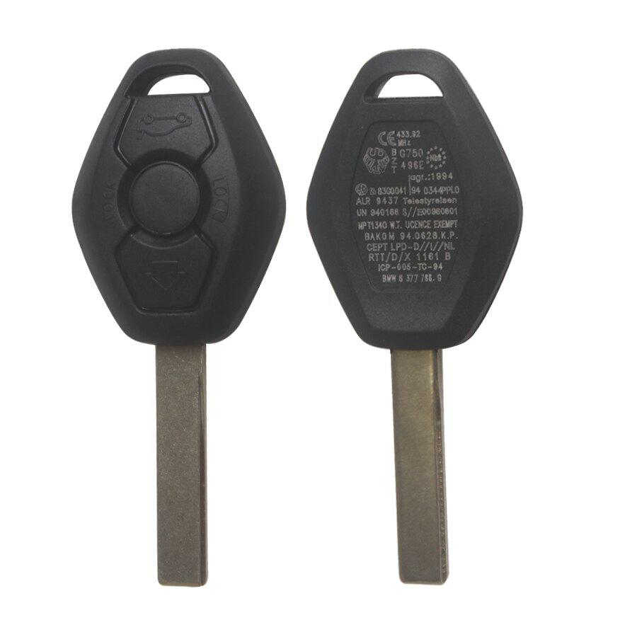 Key Shell 3 Button 2 Track  For BMW (back side with the words 433.92MHZ) 5pcs/lot