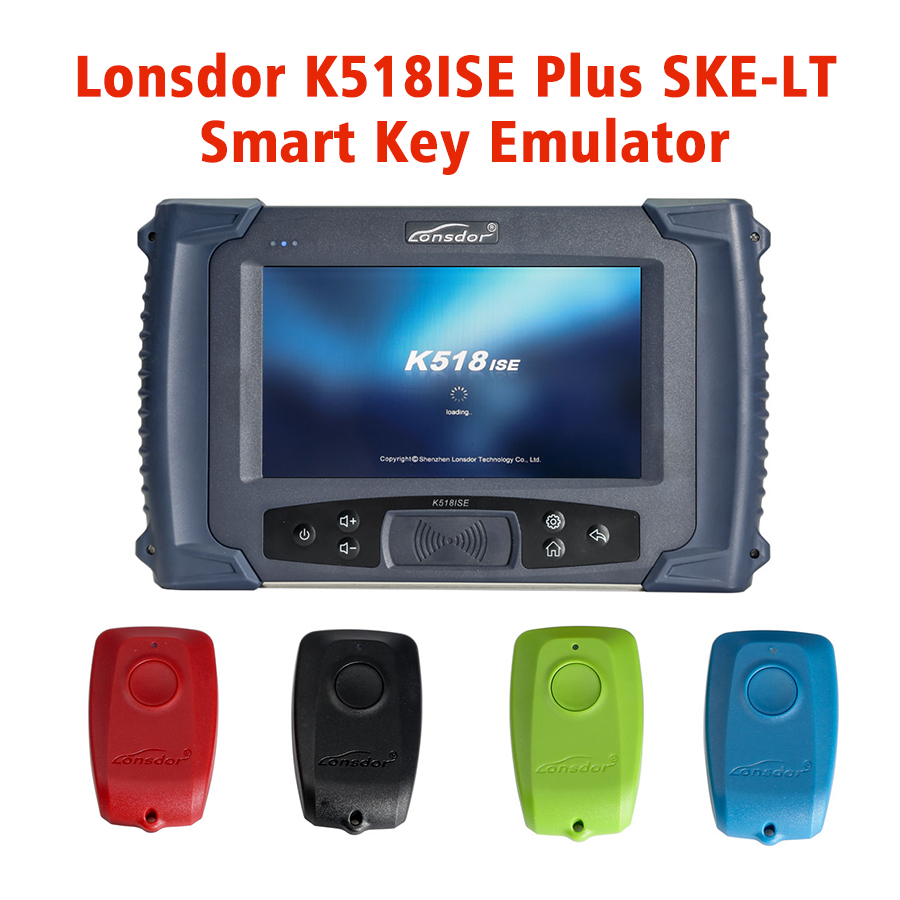 Original Lonsdor K518ISE Key Programmer Plus SKE-LT Smart Key Emulator 4 in 1 Set