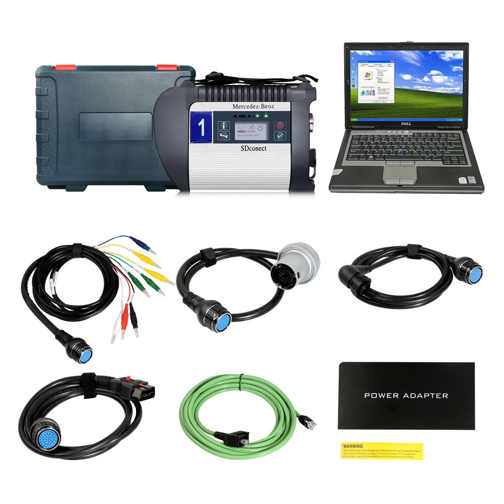 2019.12V MB SD C4 Plus Support Doip with Dell D630 Laptop 4GB Memory Software Installed Ready to Use
