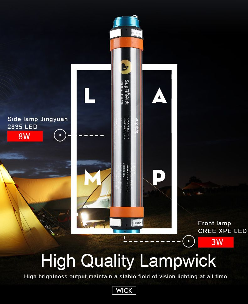 T5 Multifunction Flashlight Camping Light
