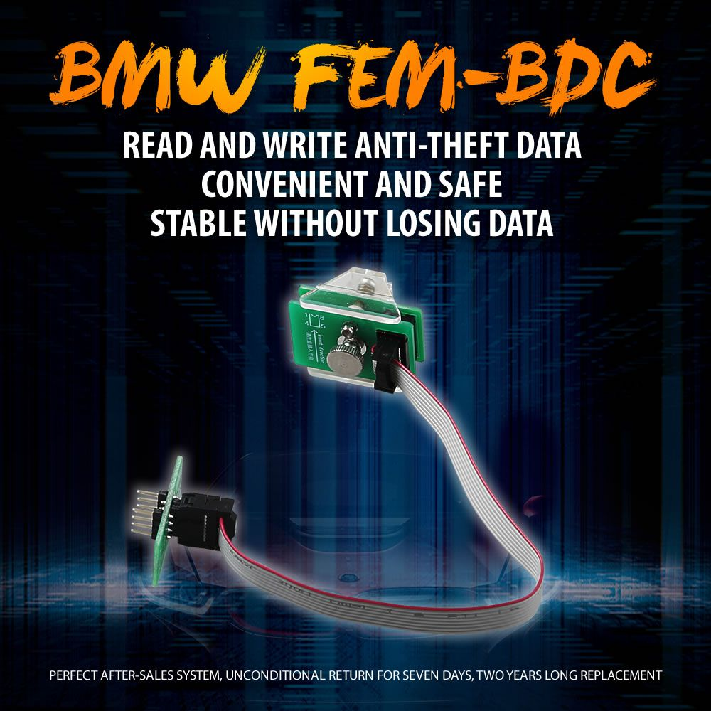 OEM BMW FEM-BDC 95128/95256 Chip Anti-theft Data Reading Adapter 8Pin Adapter Work with VVDI Prog/CG Pro 9S12/Orange5