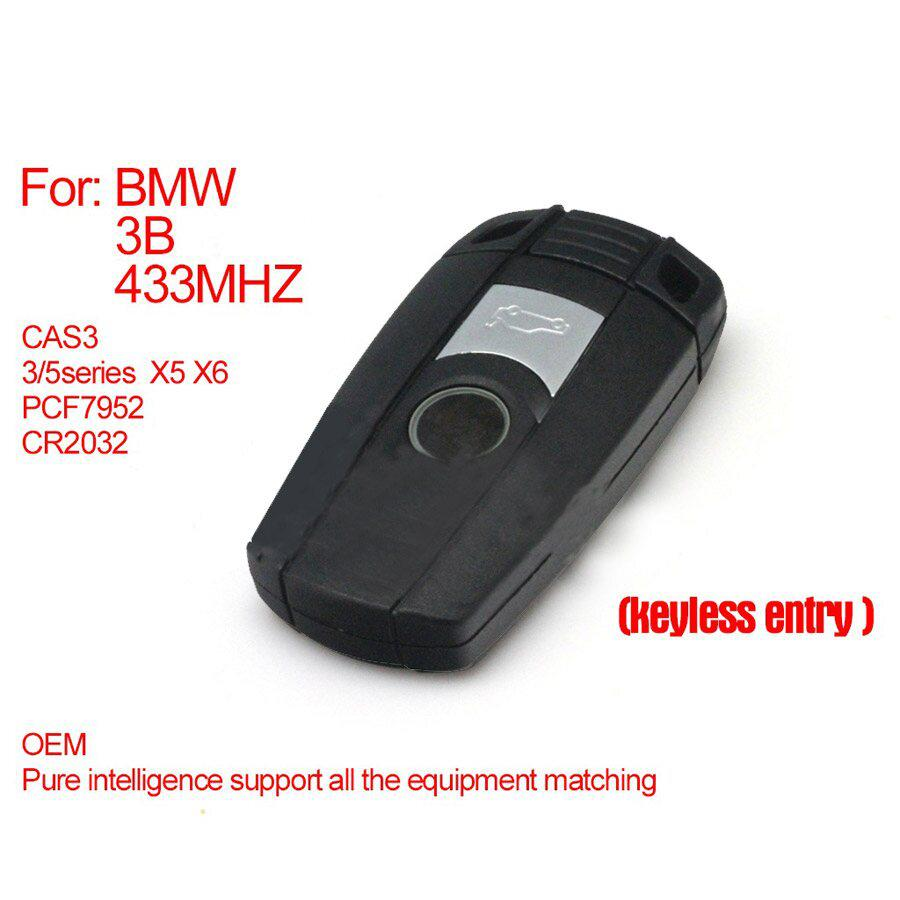 Pure Smart Key For BMW CAS3 3 Buttons 433MHZ (Keyless-entry) PCF7952