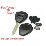 Remote Key Shell For Toyota Corolla 2 Buttons TOY47 Big Logo With Paper 10PCS/lot