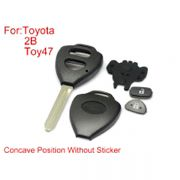 Remote Key Shell For Toyota Corolla 2 Buttons TOY47 With Concave Without Paper 10PCS/lot