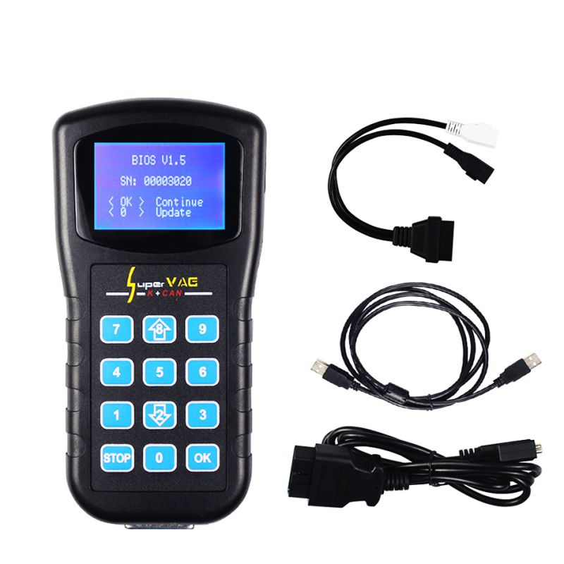 Super VAG K+CAN V4.6 Odometer Correction Tool Airbag Reset tool Key programmer For AUDI VW Skoda vag k can