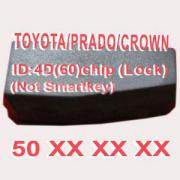 4D (60) Duplicabel Chip  For Toyota/Prado/Crown 50xxx (Not Smart Key) 10pcs/lot