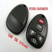 5Button 315MHZ Remote Key For GM