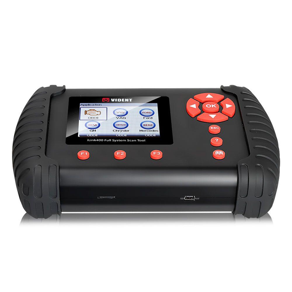 Original VIDENT iLink400 Full System Scan Tool Single Make Support ABS/SRS/EPB//DPF Regeneration/Oil Reset