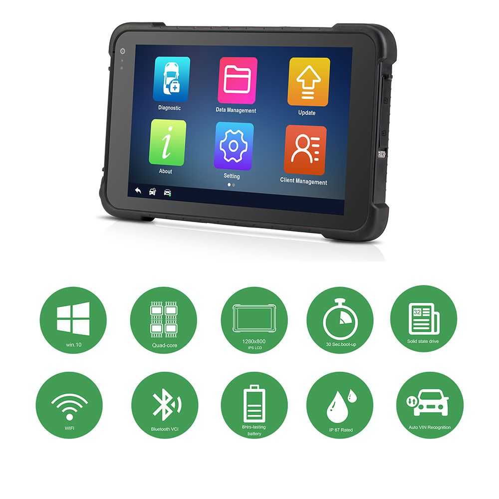 Original Vident iSmart900 8inch Tablet Automotive Diagnostic & Analysis All System + Coding (78+ Makers)