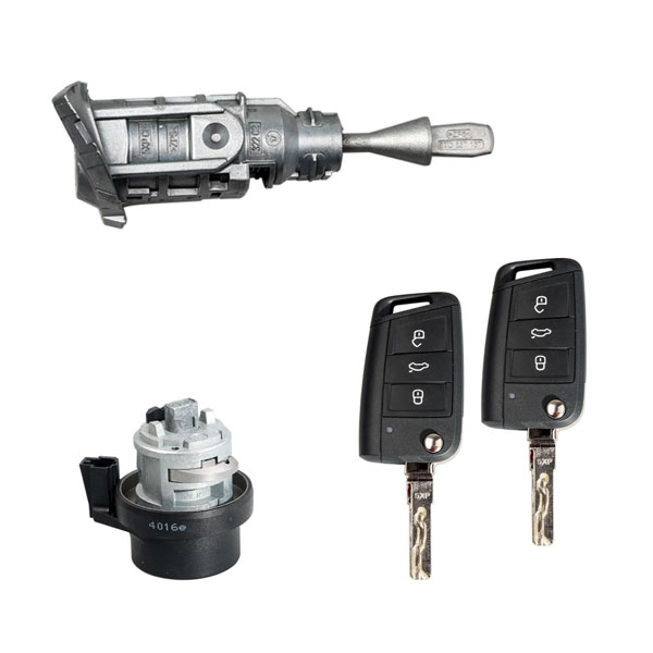 Newest Full Set Lock with 3-Button Keys of VW MQB
