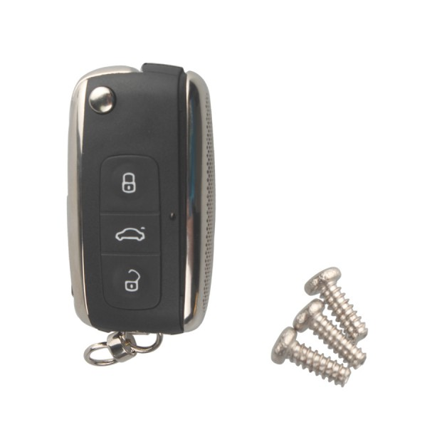Modifiled Flip Remote Key Shell For VW Skoda 3 Button 5PCS/lot