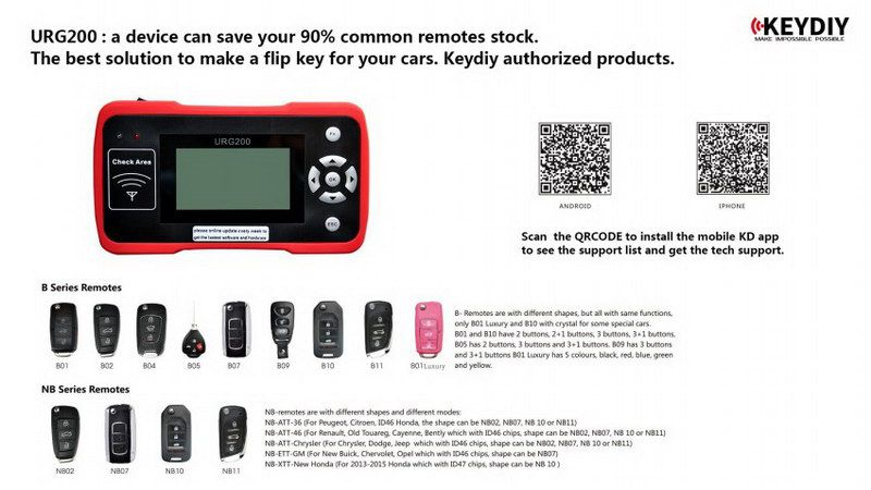 URG200 Maker the Best Tool for Remote Control World with 1000 Tokens Repl