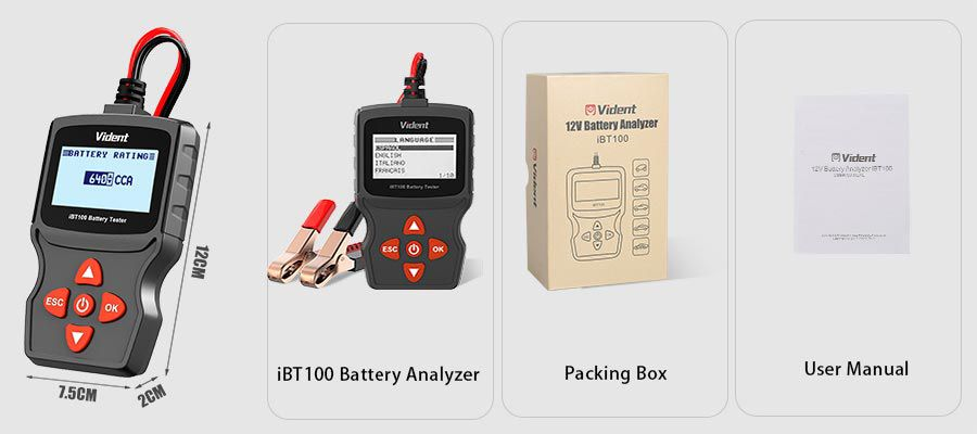 Vident iBT100 Battery Analyzer