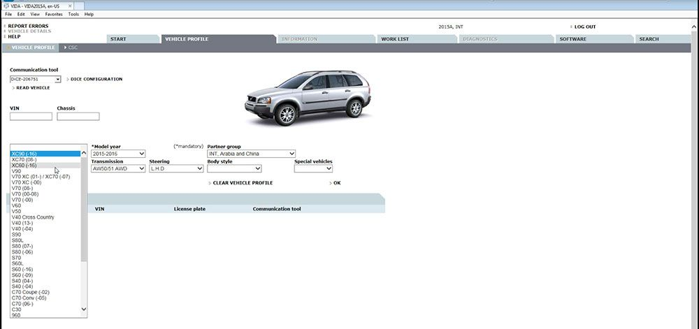 Volvo Vida Dice 2015A Software